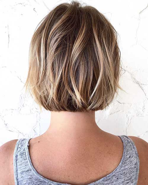 Dark Brown Bob With Blonde Highlights
