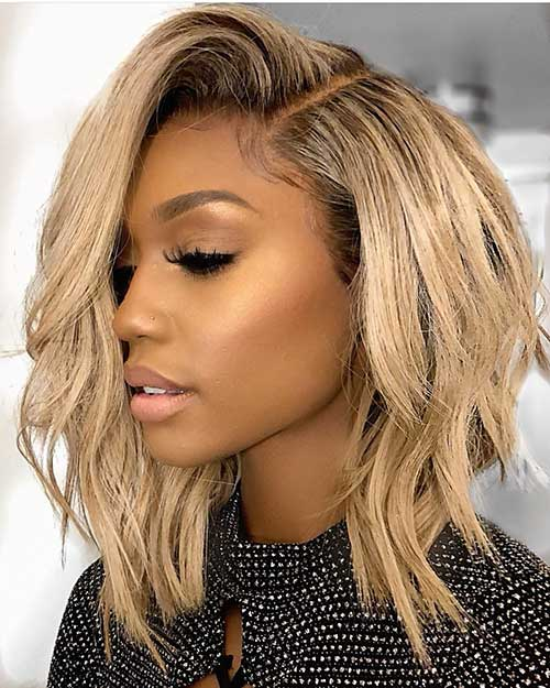 Long Asymmetrical Bob Weave