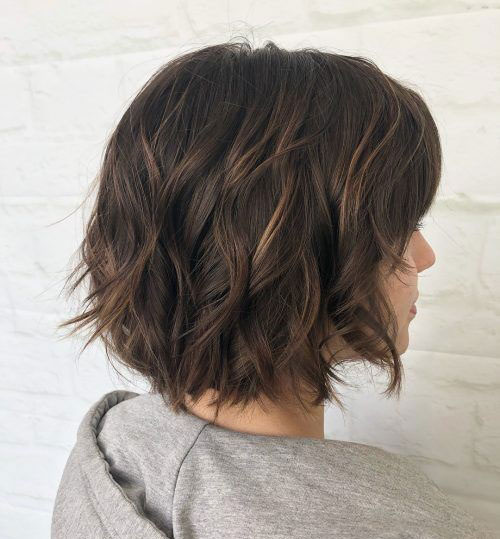 Choppy Bob Brown Hairstyles-9