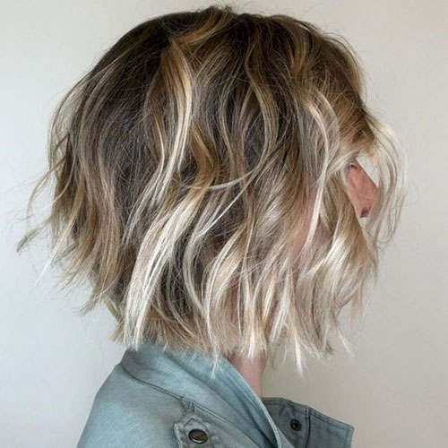 Choppy Layered Bob Haircuts