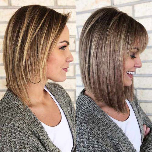 Long Bob Hairstyles with Bangs