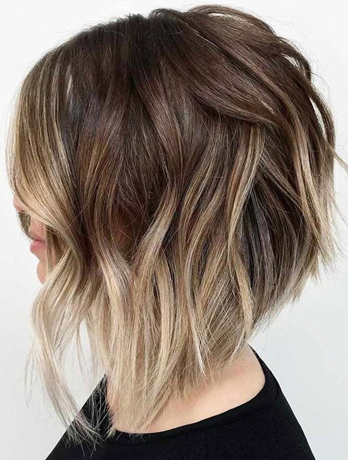 Ombre Graduated Bob Hairstyles-10
