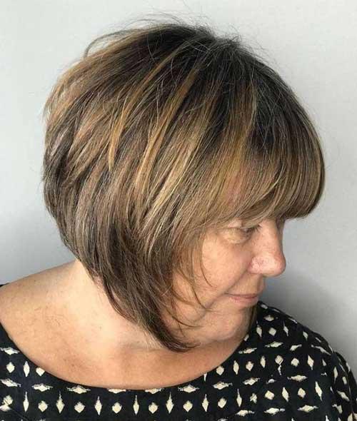 Bob Haircuts and Bangs for Over 50-11