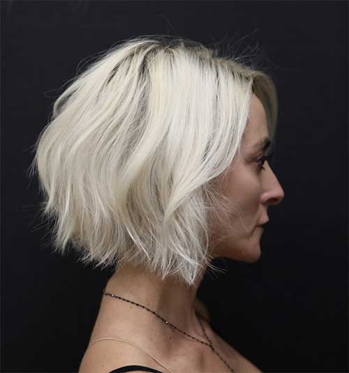 Bob White Blonde Haircuts for Over 50-21