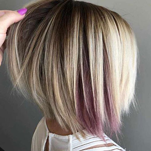 Blonde Graduated Bob Hairstyles-7