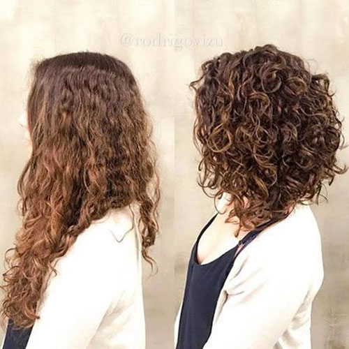 Layered Bob for Curly Hair
