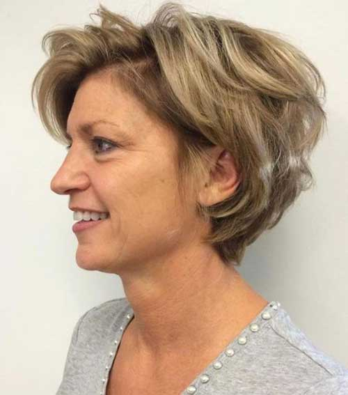 Layered Bob Haircuts for Over 50