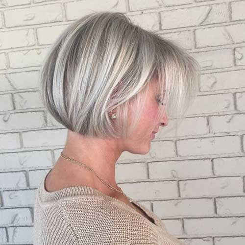 Short Bob Haircuts for Over 50