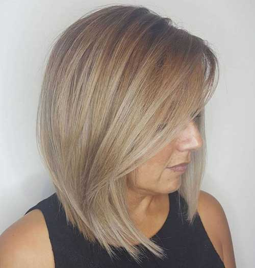 Blonde Long Bob Haircuts for Women Over 40-10