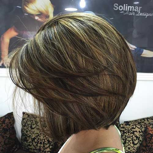 Dark Brown Short Layered Bob Haircuts-11