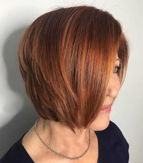 Bob Haircuts Color for Over 50-12
