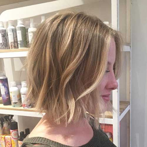 Short Bob Haircuts for Fine Hair Wavy Ends-12