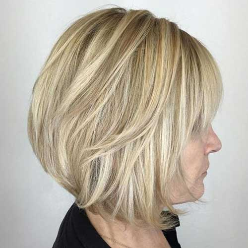 Cute Bob Haircuts for Women Over 40-13