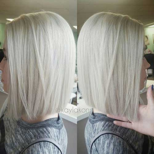 Short Bob Haircuts for Fine Ice Blonde Hair-14