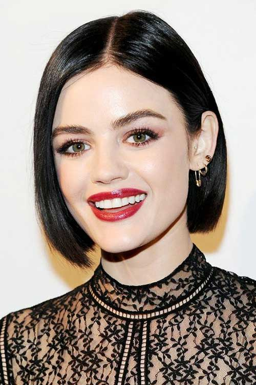 Short Bob Haircuts for Dark Brown Fine Hair-15