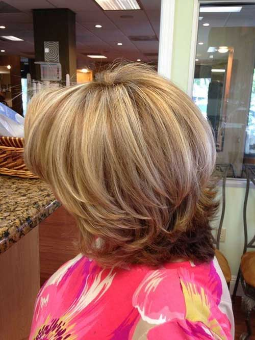 Short Layered Bob Haircuts-15