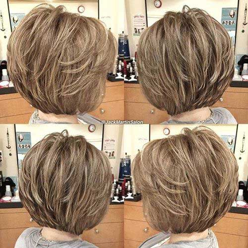 Short Layered Bob Haircuts-18