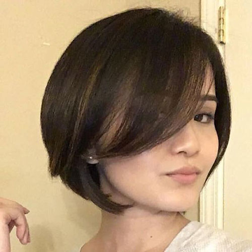 Cute Bob Haircuts Side Bangs-6