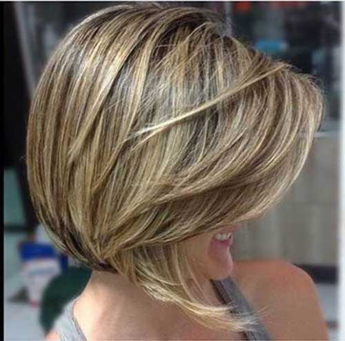Short Layered Long Bob Haircuts-6