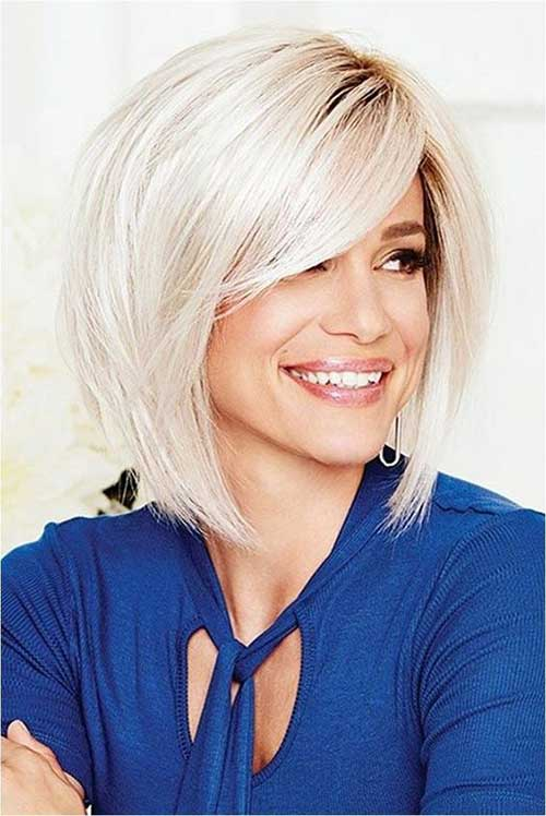 Bob Haircuts Side Bangs for Women Over 40-9