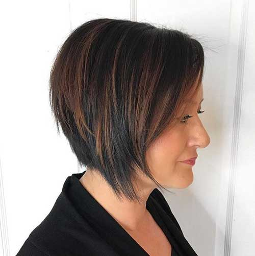 Choppy Graduation Layered Bob Hairstyles-10