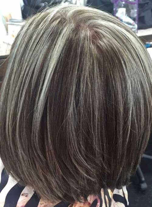 Grey Colored Bob Hairstyles for Women Over 50-10