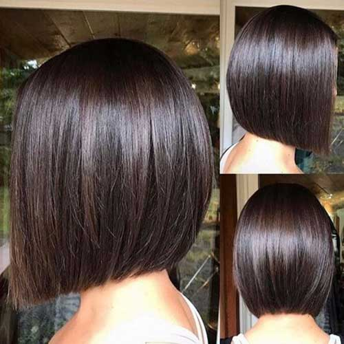 Dark Brown Long Bob Hairstyles-7