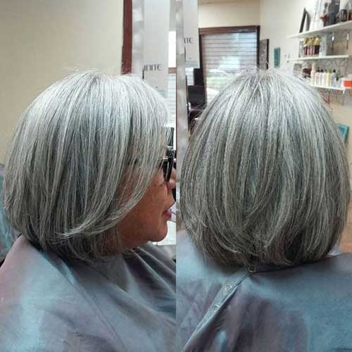 Natural Whitebob Hairstyles for Women Over 50-7
