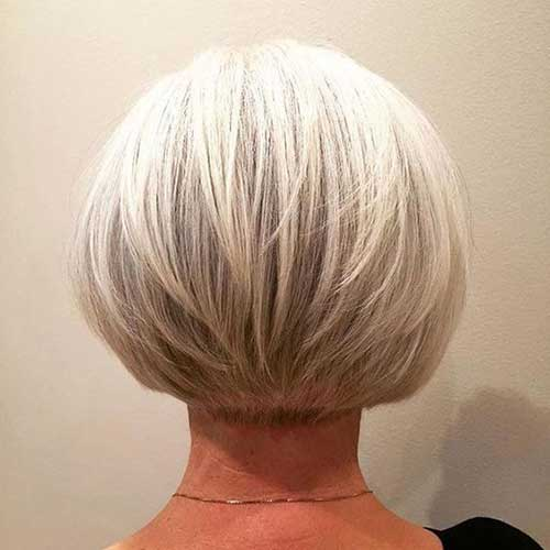 Bob Hairstyles Back View for Women Over 50-9