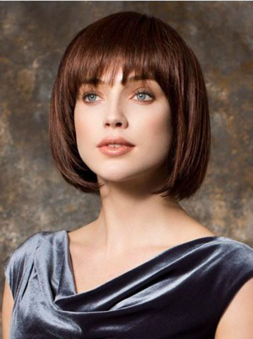 Chin Length Bob No Bangs