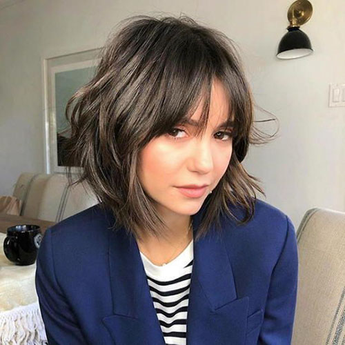 Chin Length Bob Bangs