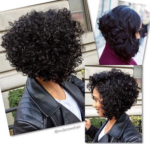 Curly Bob Black Woman