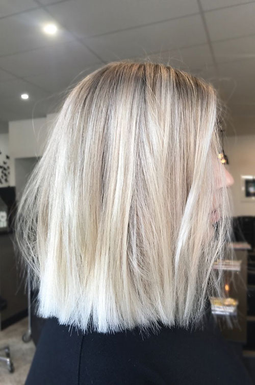 Blunt Lob Hairstyle