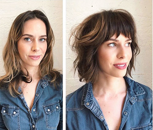 Pictures Of Bob Haircuts With Bangs