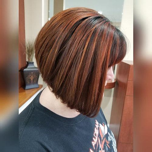 Bob Haircut No Bangs