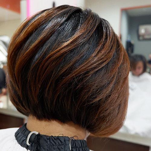 Stacked Bob Hair Cut