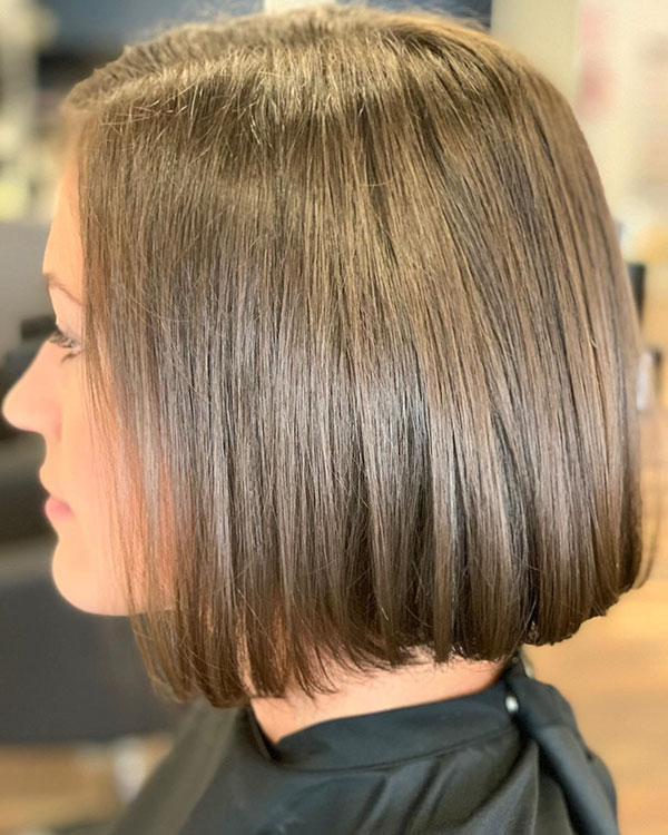 Blunt Bob Haircut Ideas On Short Hair