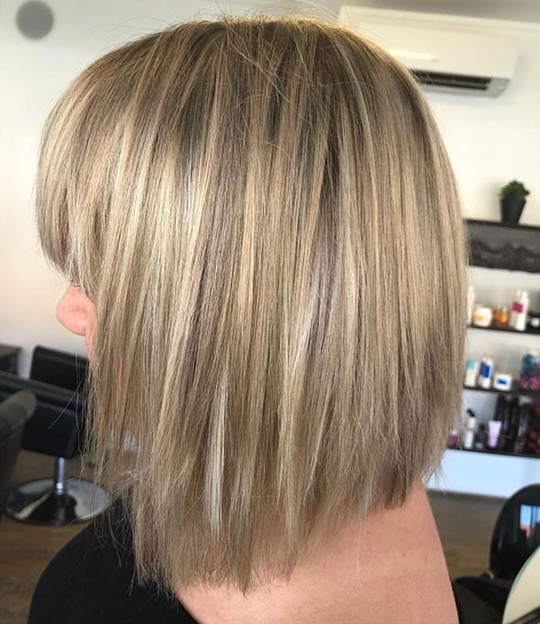 Medium Bob Hairstyles With Bangs 2020