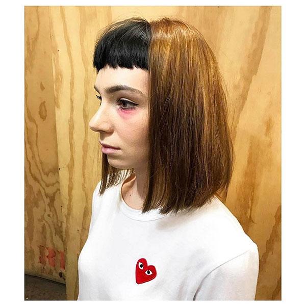 Medium Bob Haircuts With Bangs